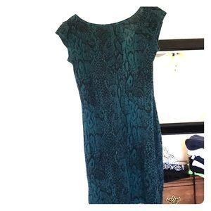 Snakeskin print cotton dress